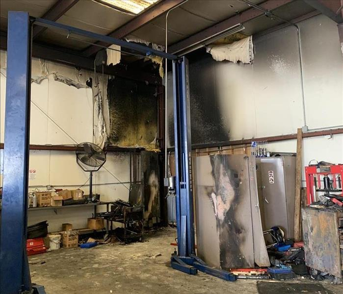Commercial Fire Loss in Riverside Before